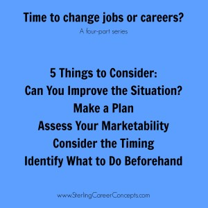 5 Things to Consider Before Making a Change