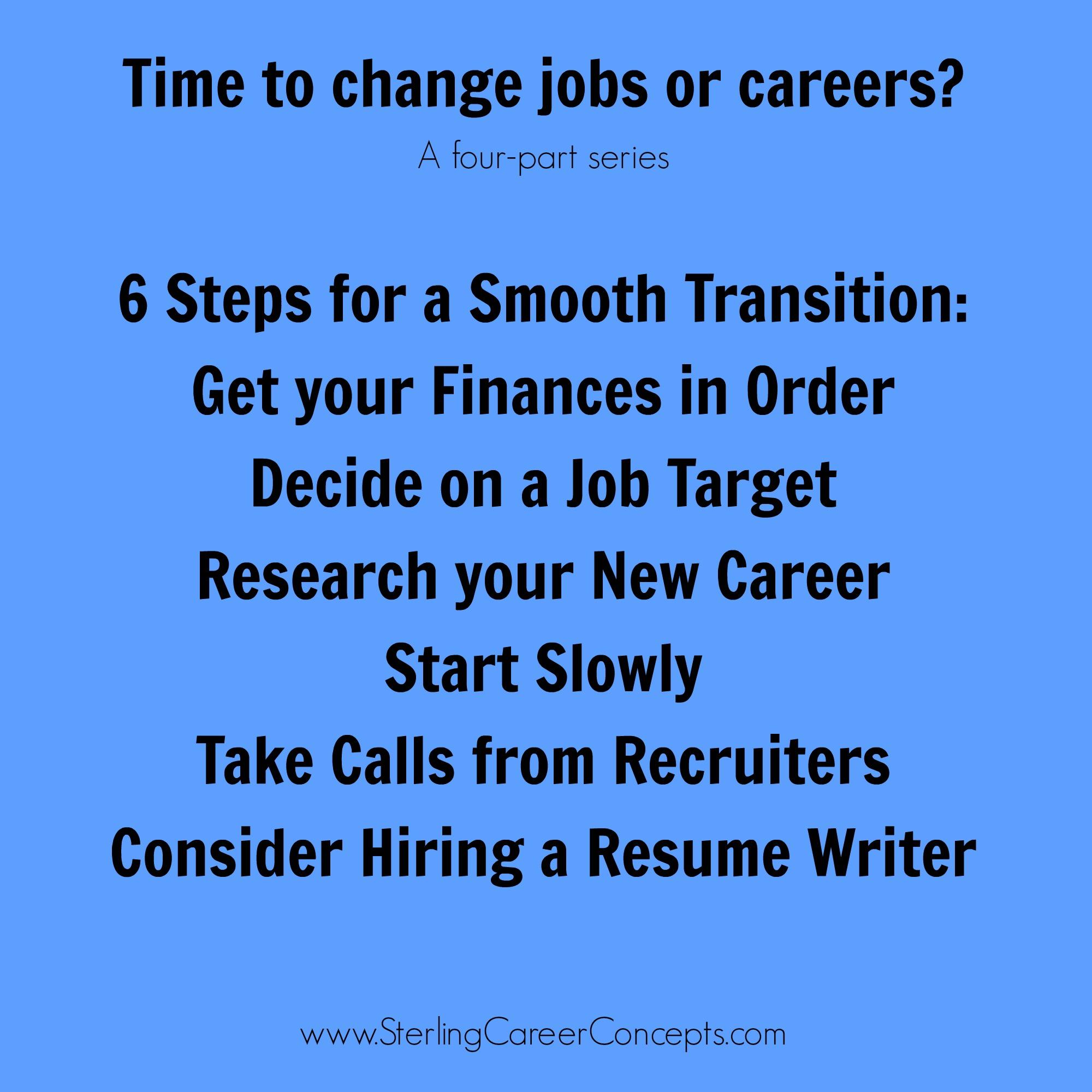 6 practical steps for your job or career change sterling career 6 practical steps for your job or career change