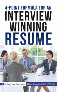 4-point formula for an interviewing winning resume
